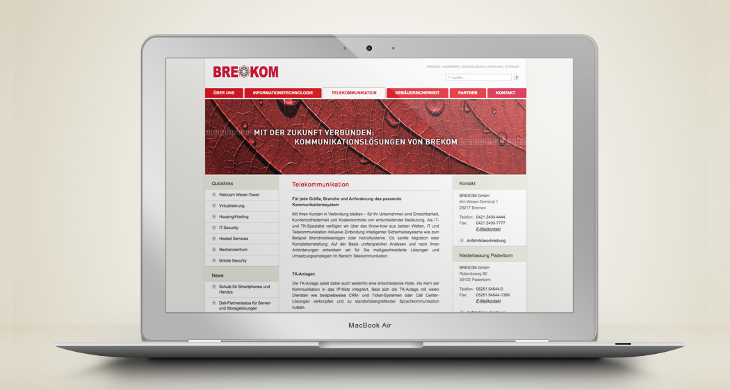 Brekom Website