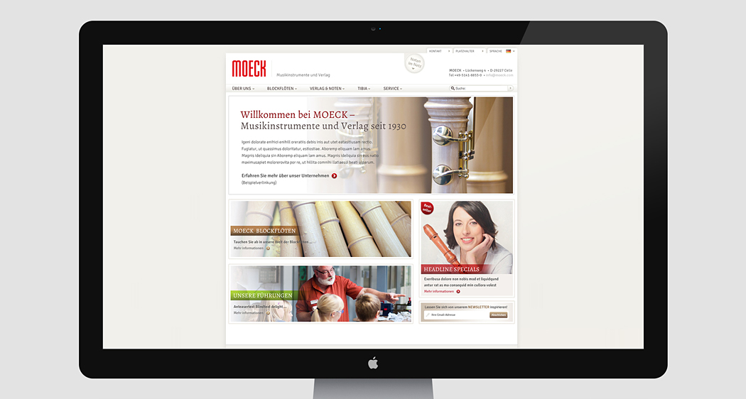 moeck Website-Refresh